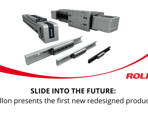 SLIDE INTO THE FUTURE: Rollon presents the first new redesigned products.